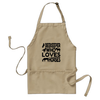 Beekeeper Who Loves Horses Adult Apron