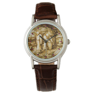 BEEKEEPERS AND HONEY BEE HIVES WRIST WATCH