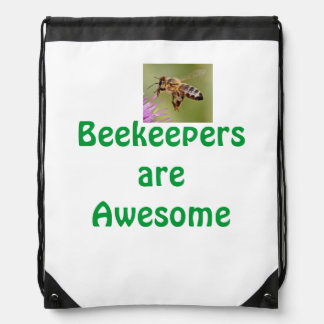 Beekeepers are awesome drawstring bag