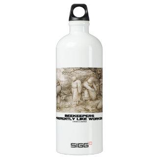 Beekeepers Are Inherently Like Worker Bees Bruegel Aluminum Water Bottle