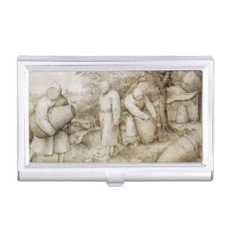 Beekeepers by Pieter Bruegel the Elder Business Card Holder