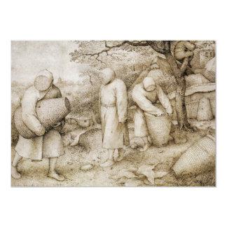 "Beekeepers by Pieter Bruegel the Elder 5"" X 7"" Invitation Card"