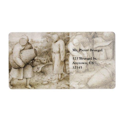 Beekeepers by Pieter Bruegel the Elder Custom Shipping Label