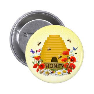 Beekeeping badge pinback button