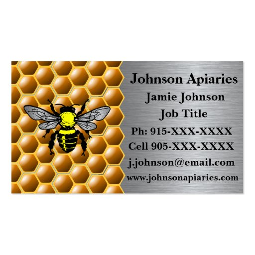 Beekeeping business card zazzle for Bee business cards