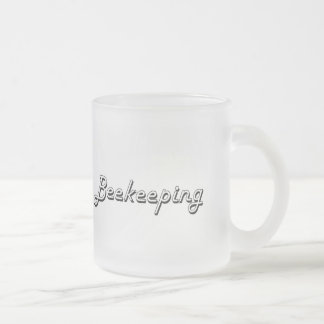 Beekeeping Classic Retro Design 10 Oz Frosted Glass Coffee Mug