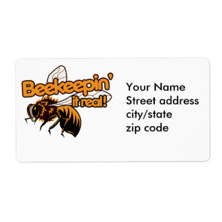 Beekeeping it REAL Label