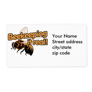 Beekeeping it Real! Label