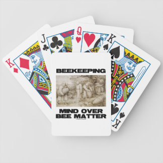 Beekeeping Mind Over Bee Matter Bicycle Playing Cards