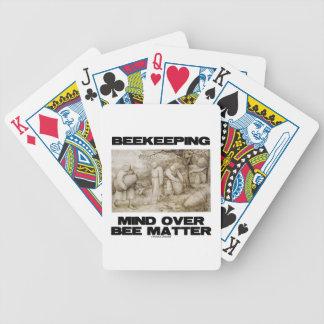 Beekeeping Mind Over Bee Matter Poker Deck