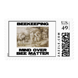 Beekeeping Mind Over Bee Matter Stamp