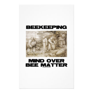 Beekeeping Mind Over Bee Matter Stationery