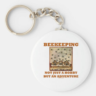 Beekeeping Not Just A Hobby But An Adventure Basic Round Button Keychain
