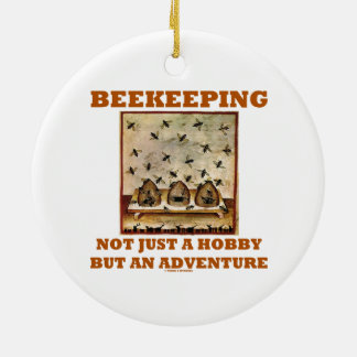 Beekeeping Not Just A Hobby But An Adventure Double-Sided Ceramic Round Christmas Ornament