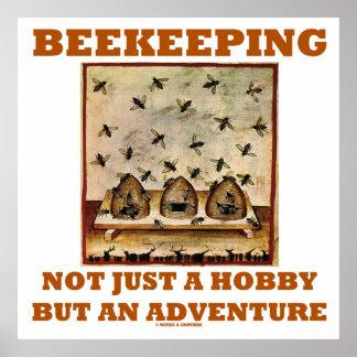 Beekeeping Not Just A Hobby But An Adventure Poster