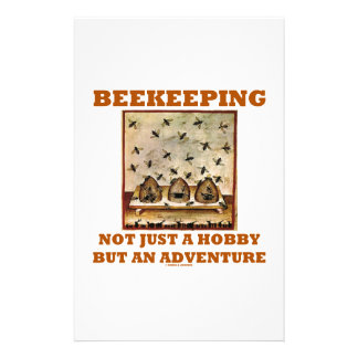 Beekeeping Not Just A Hobby But An Adventure Personalized Stationery