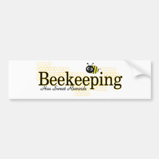 beekeeping sweet rewards bumper sticker