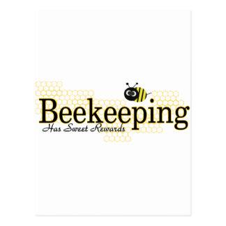 beekeeping sweet rewards postcard
