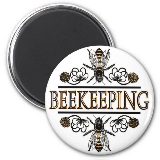 beekeeping with worker bees 2 inch round magnet