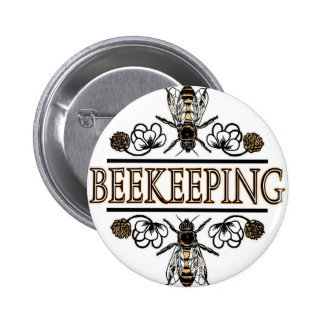 beekeeping with worker bees button