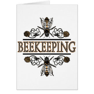 beekeeping with worker bees card