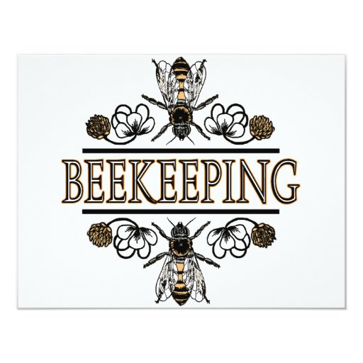 beekeeping with worker bees custom announcement