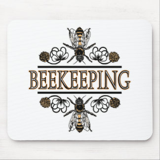 beekeeping with worker bees mousepads