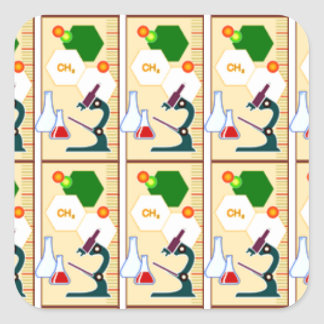 beekers, chemistry, chemistry class, college, educ square sticker