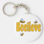 Beelieve Basic Round Button Keychain