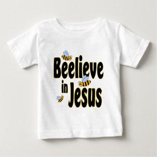 Beelieve in Jesus Black Baby T-Shirt