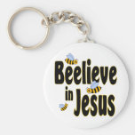 Beelieve in Jesus Black Key Chains