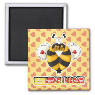 BEElieve in Love Bumble Bees Magnet