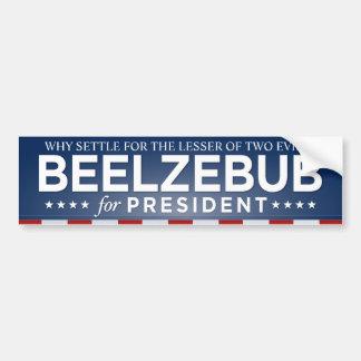 Beelzebub para el presidente pegatina para el para etiqueta de parachoque