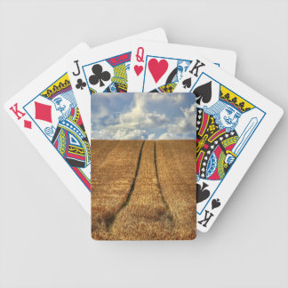 Been and Gone wheat field with Tractor Tracks Bicycle Playing Cards