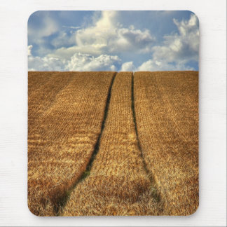 Been and Gone wheat field with Tractor Tracks Mouse Pad