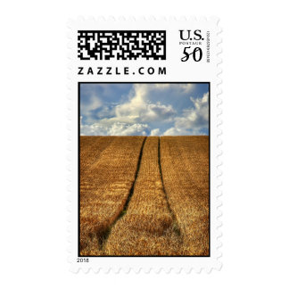Been and Gone wheat field with Tractor Tracks Postage