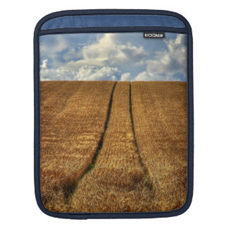 Been and Gone wheat field with Tractor Tracks Sleeves For iPads
