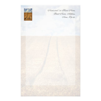Been and Gone wheat field with Tractor Tracks Stationery