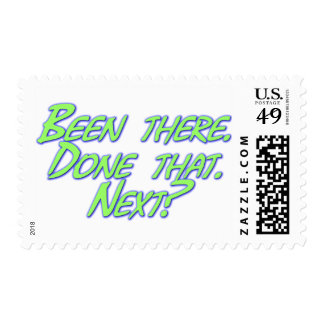 Been there, done that postage stamps