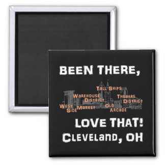 Been There, Love That! (on black) 2 Inch Square Magnet
