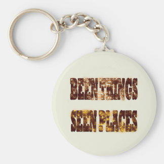 BEEN THINGS SEEN PLACES BASIC ROUND BUTTON KEYCHAIN