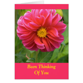 """""""BEEN THINKING OF YOU"""" ROSE COLORED DAHLIA (PHOTOG CARD"""