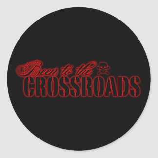 Been to the Crossroads Classic Round Sticker