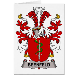 Beenfeld Family Crest Greeting Card