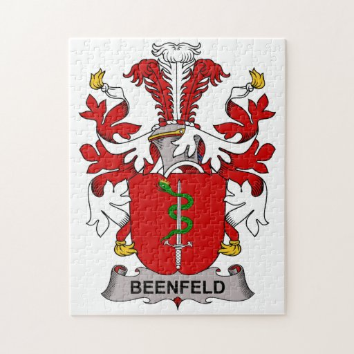 Beenfeld Family Crest Jigsaw Puzzle