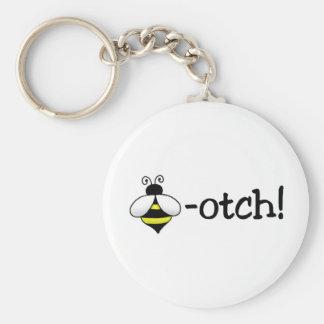 Beeotch Basic Round Button Keychain