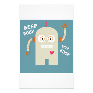 Beep Boop Personalized Stationery
