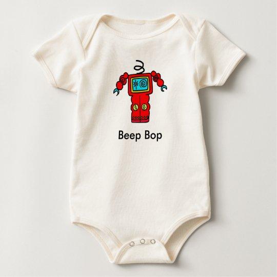 Beep Bop headless Robot Baby Bodysuit