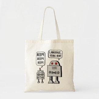 Beeping Robot Tote Bag