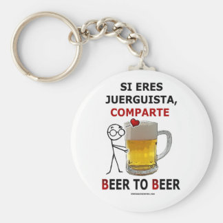 Beer2Beer Basic Round Button Keychain